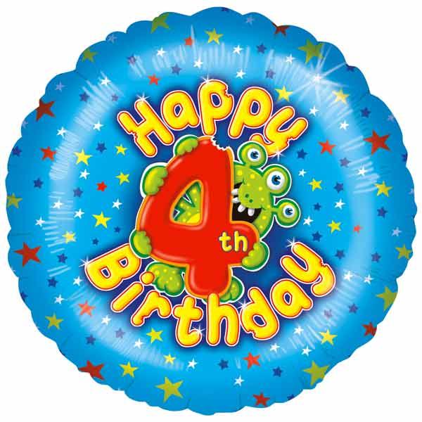 Balloons 4th Birthday Boy Balloon £9.95