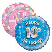 Age 1-10 Birthday Foil Balloons