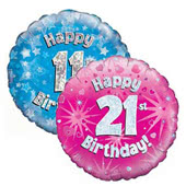 Age 11-21 Birthday Foil Balloons