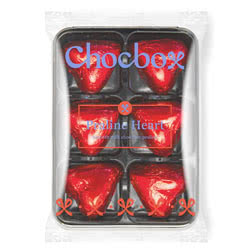 Red Foiled Praline Chocolate Hearts