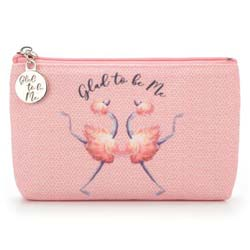 Glad To Be Me Small Pink Pouch