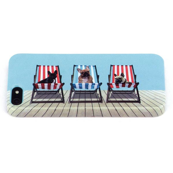 Catseye Deckchair Dogs iPhone 5 Shell