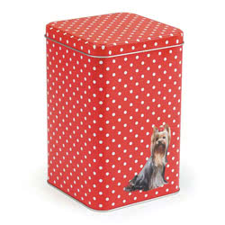 Polka Dot Dog Storage Tin