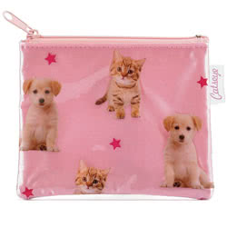 Puppy and Kitten Zip Purse