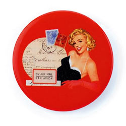 Red Glamour Girl Mirror