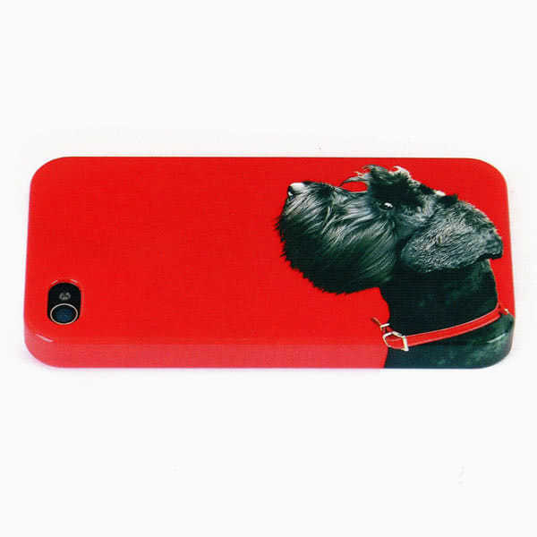Catseye Terrier on Red iPhone Shell