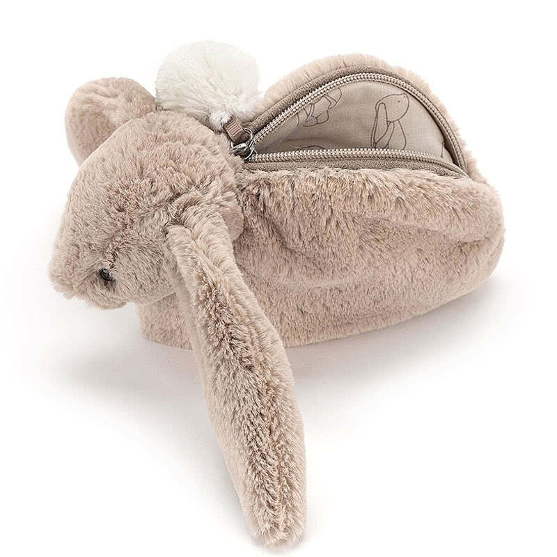 Little JellycatBashful Beige Bunny Pouch