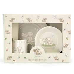 Bashful Bunny Bowl, Cup & Plate Set