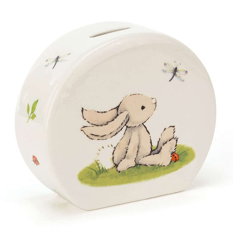Little Jellycat Bashful Bunny Money Box