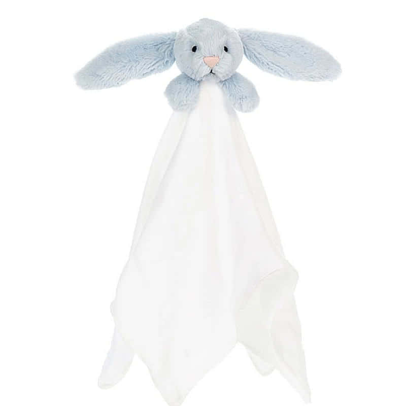 Little Jellycat Bashful Blue Bunny Muslin Soother