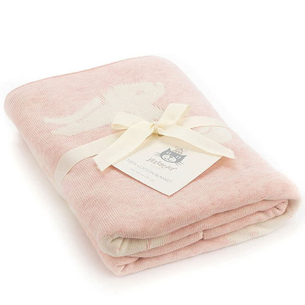 Little Jellycat Bashful Pink Bunny Blanket