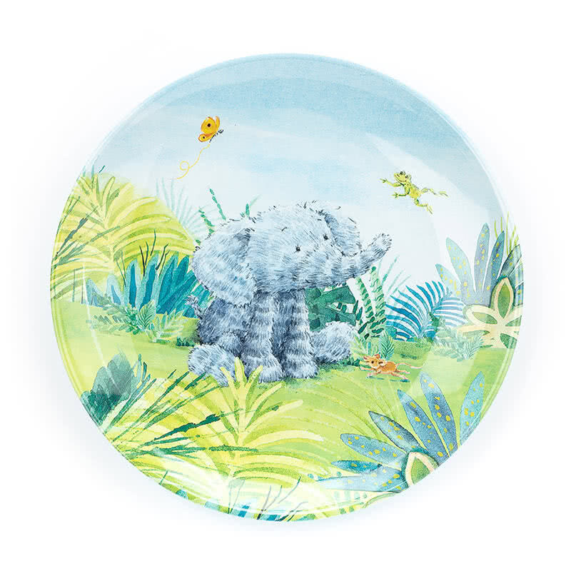 Little Jellycat Elephants Cant Fly Melamine Plate