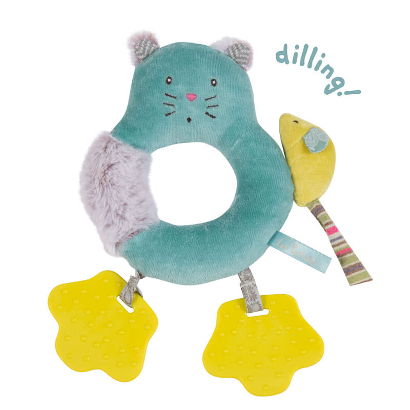 Moulin Roty Les Pachats Cat Ring Rattle