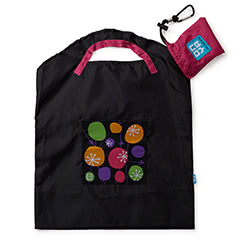 Black Retro Small Shopping Bag