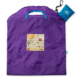 Purple Garden Large Shopping Bag