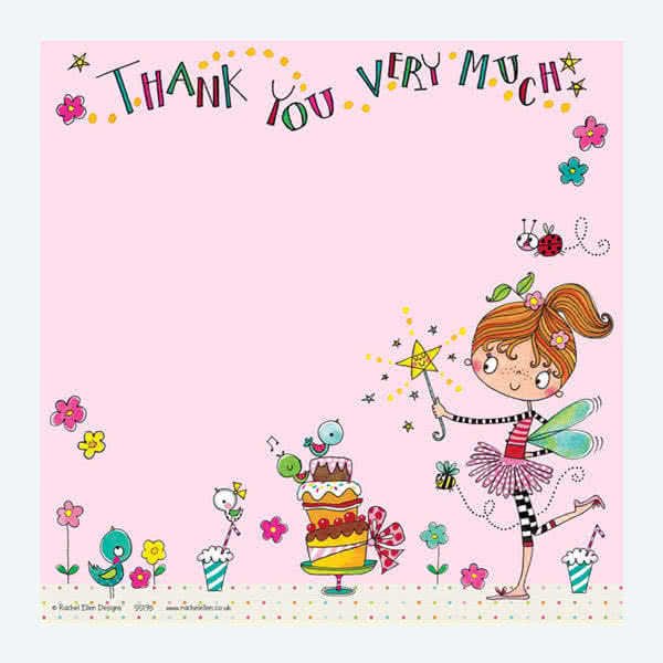Rachel EllenFairy Cake Thank You Card
