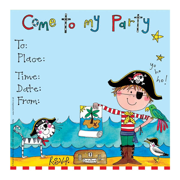 Rachel Ellen Pirate Party Invitation