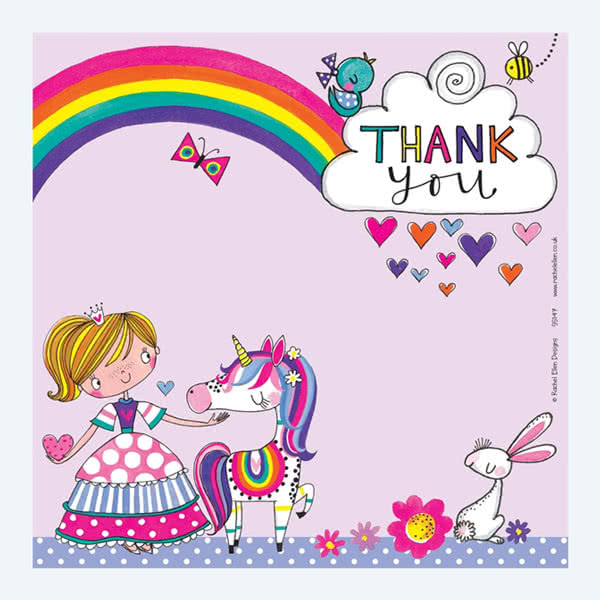 Rachel EllenPrincess Thank You Card
