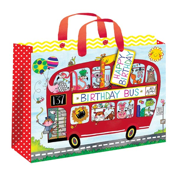 Rachel Ellen Animals Bus Gift Bag