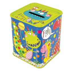 Dinosaurs Money Box Tin