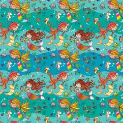 Mermaids Gift Wrap Paper