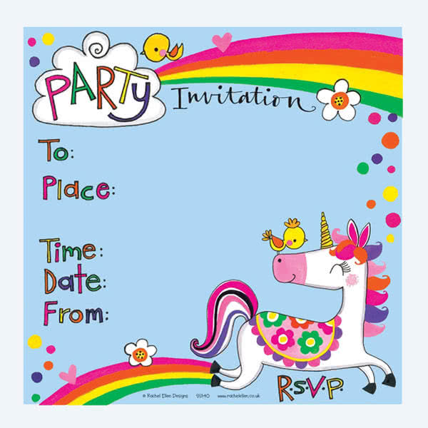 Rachel EllenUnicorn Party Invitation