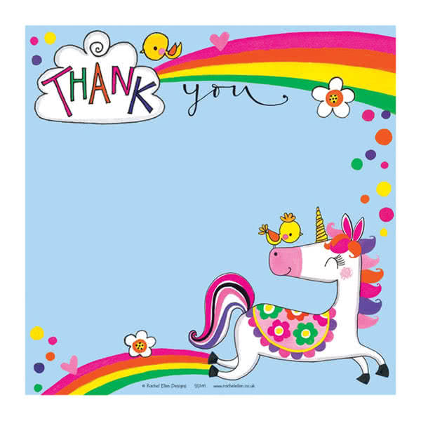 Rachel EllenUnicorn Thank You Card