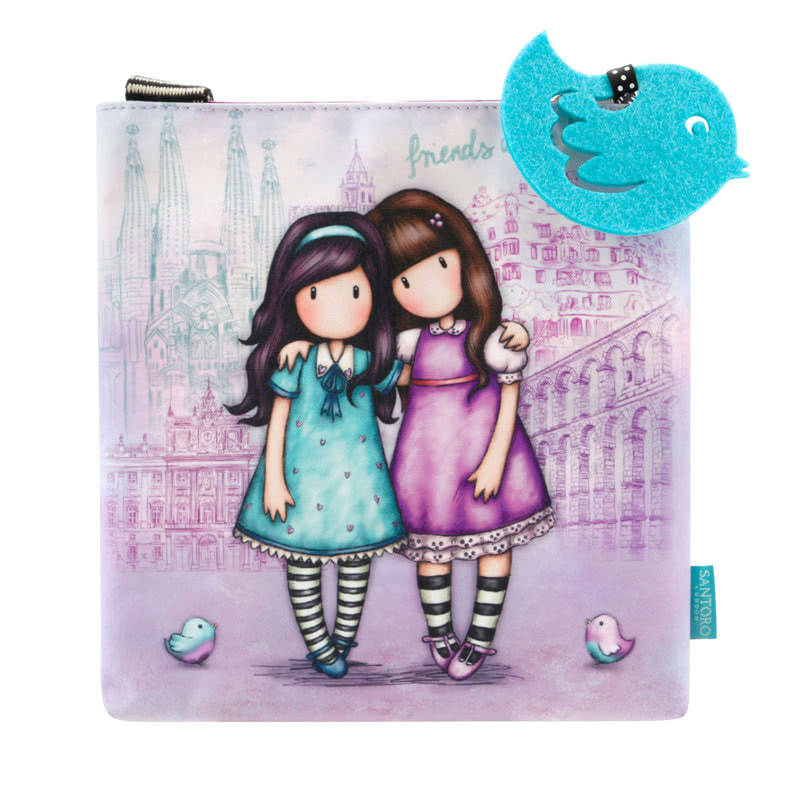 Gorjuss Friends Walk Together Small Shoulder Bag
