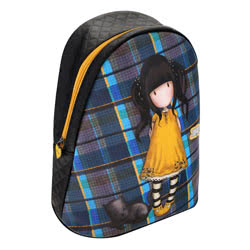 Tartan Fashion Rucksack - Ruby