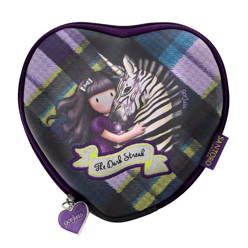 GorjussTartan Heart Purse Dark Streak