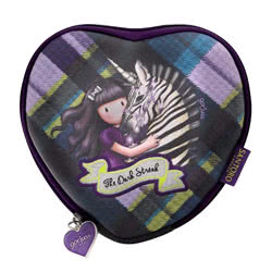 Tartan Heart Purse Dark Streak