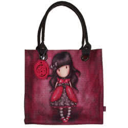 Large Coated Shopping Bag - Ladybird