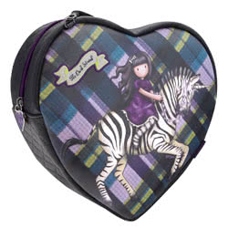 Tartan Heart Shoulder Bag - Dark Streak