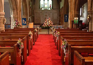 Wedding Church Aisle Flowers