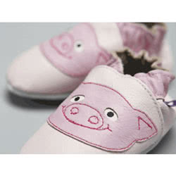 Pinky Piggy Leather Shoes