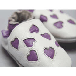 Pre Shoes - Purple Hearts