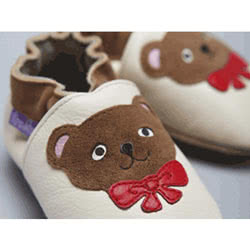 Teddy Bears Leather Shoes