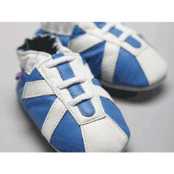 White Stripes Leather Shoes